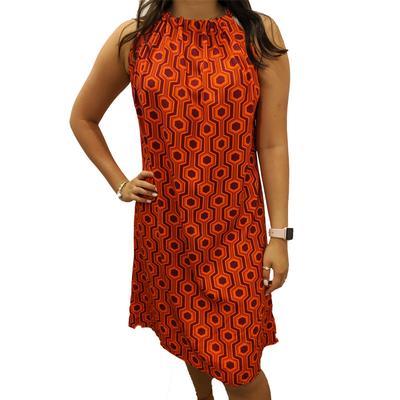 Maroon & Orange Short Alice Dress