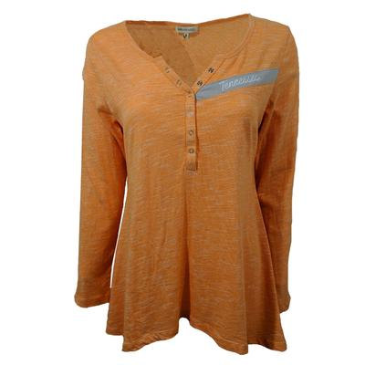 Tennessee University Girl Cozy Henley Top
