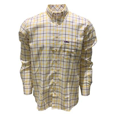 LSU Frederick Martin Big Plaid Woven Shirt