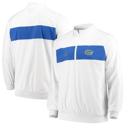 Men's Jordan Brand Florida Gators 2019 Coaches Sideline Half-Zip Jacket WHITE