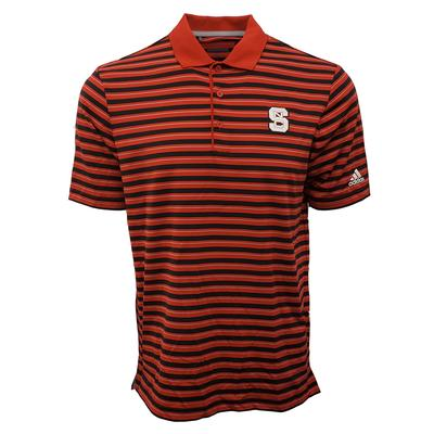 NC State Adidas Men's Golf Ulitimate 3 Stripe Polo