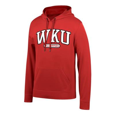 Western Kentucky Arch Logo Poly Hooded Fleece