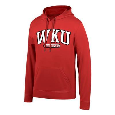Western Kentucky Arch Logo Poly Hooded Fleece