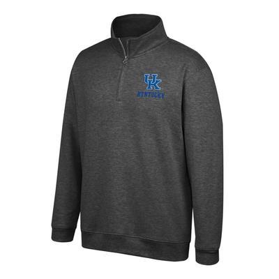 Kentucky Foundation 1/4 Zip Fleece Pullover BLACK_HTHR
