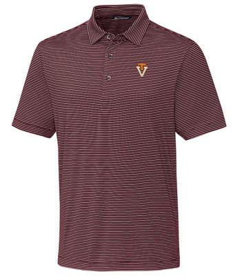 Virginia Tech Cutter & Buck Forge Pencil Stripe Vault Polo