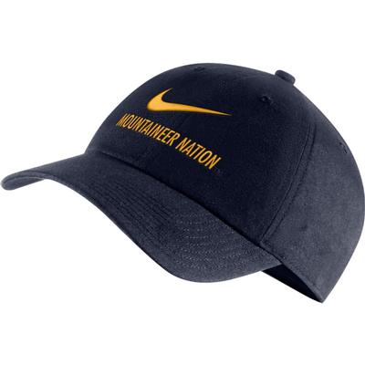 West Virginia Nike H86 Swoosh Adjustable Hat