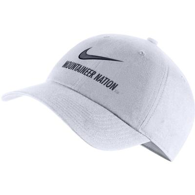 West Virginia Nike H86 Swoosh Adjustable Hat WHITE