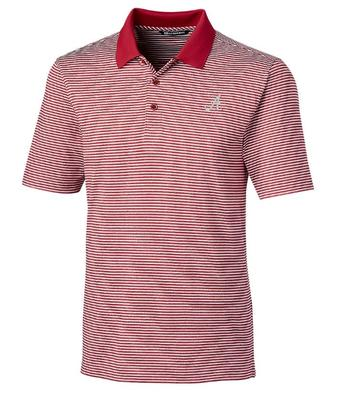 Alabama Cutter & Buck Tonal Stripe Forge Big & Tall Polo