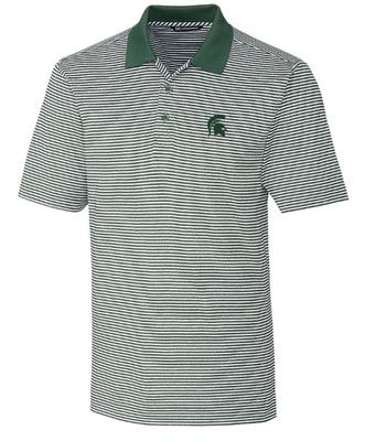 Michigan State Cutter & Buck Tonal Stripe Forge Big & Tall Polo