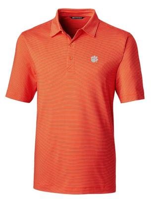 Clemson Cutter & Buck Forge Pencil Stripe Big & Tall Polo