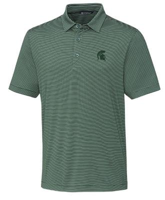 Michigan State Cutter & Buck Forge Pencil Stripe Big & Tall Polo