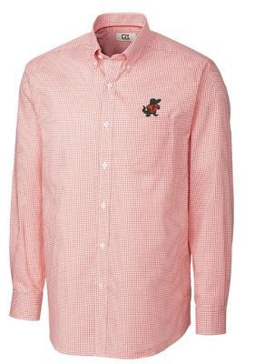 Florida Cutter And Buck Tattersall Woven Dress Shirt