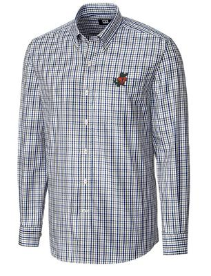 Florida Cutter & Buck Vault Logo Plaid Woven Shirt