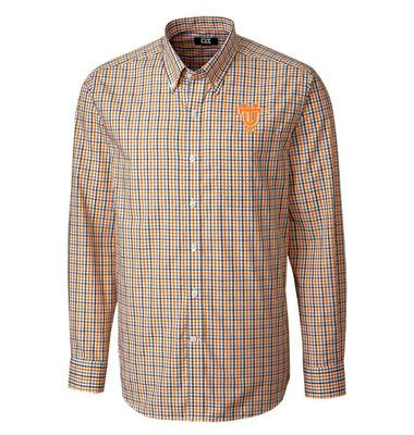 Tennessee Cutter & Buck Vault Logo Plaid Woven Shirt