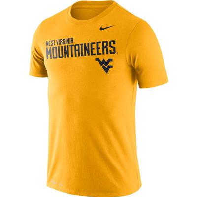 West Virginia Nike DriFit Legend Sideline Tee