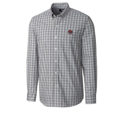 Auburn Cutter & Buck Vault Logo Plaid Woven Shirt