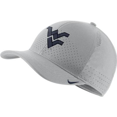 West Virginia Nike Aero C99 Sideline Swoosh Flex Hat SILVER
