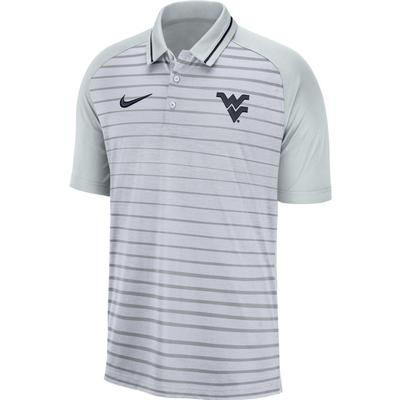 West Virginia Nike Dri-FIT Striped Polo