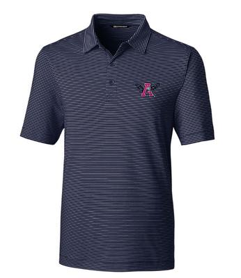 Auburn Cutter & Buck Forge Pencil Stripe Vault War Eagle Polo