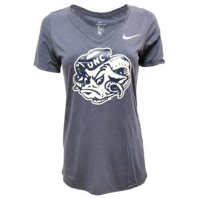 UNC Nike Women's Tri Mid V Tee Shirt