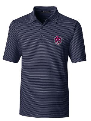 Auburn Cutter & Buck Forge Pencil Stripe Vault Polo