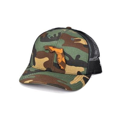 Florida Branded Bills State Flag Fill Camo Trucker Hat