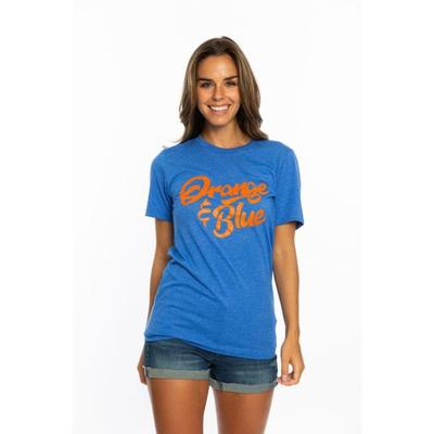 Florida Stewart Simmons Orange and Blue Crew Tee