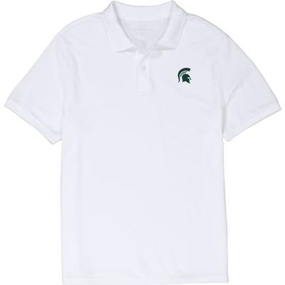 Michigan State Vineyard Vines Stretch Pique Polo