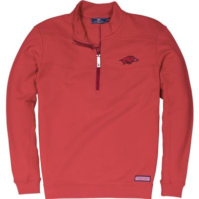 Arkansas Vineyard Vines Shep 1/2 Zip Pullover