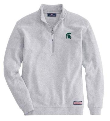 Michigan State Vineyard Vines Shep 1/2 Zip Pullover