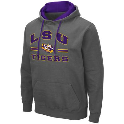 LSU Colosseum Men's Hooded Fleece Pullover CHARCOAL