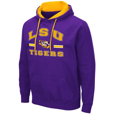 LSU Colosseum Men's Hooded Fleece Pullover PURPLE
