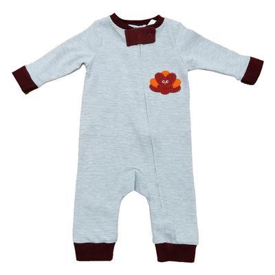 Maroon & Grey Infant Gobbler Pajamas