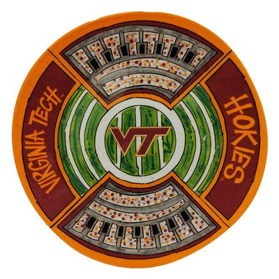 Virginia Tech Magnolia Lane Melamine Stadium Platter