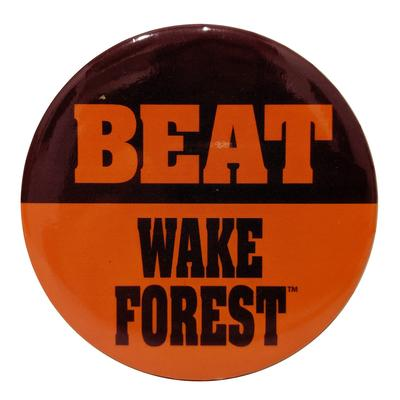 Maroon & Orange Beat Wake Forest Button
