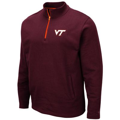 Virginia Tech Colosseum Men's 1/4 Zip Fleece Pullover