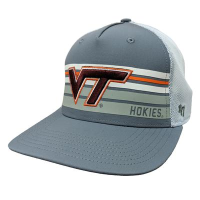 Virginia Tech '47 Brand Stripe MVP Meshback Hat