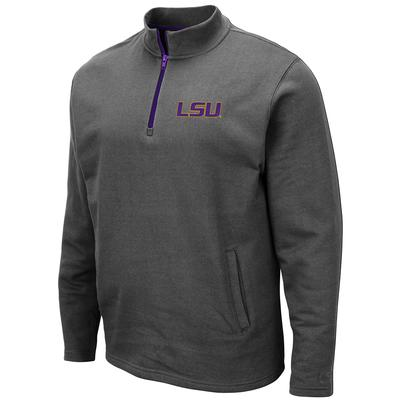 LSU Colosseum Men's 1/4 Zip Fleece Pullover