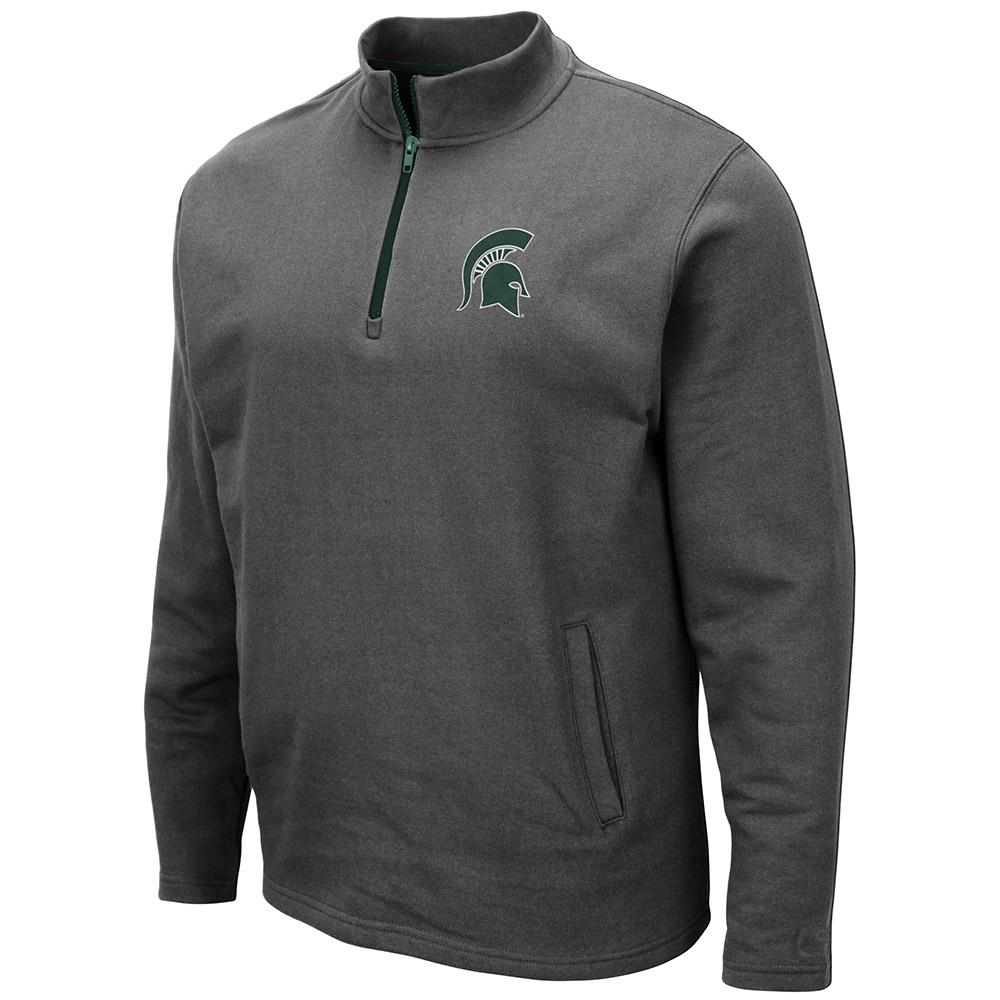 Michigan State Colosseum Men's 1/4 Zip Fleece Pullover