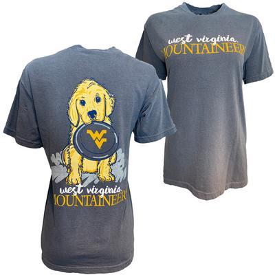 West Virginia Frisbee Dog Comfort Colors Tee