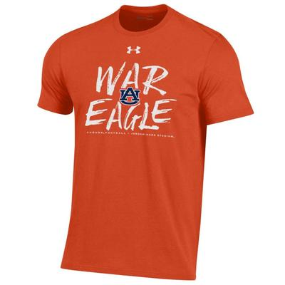 Auburn Under Armour Orange Color Out Tee Shirt
