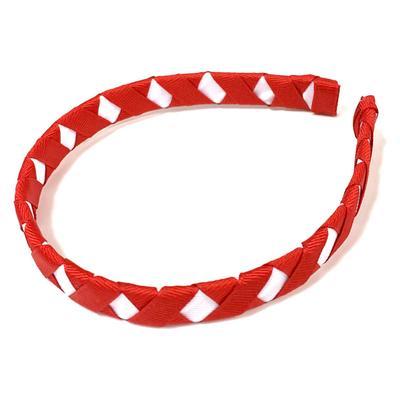 Red & White Criss Cross Headband