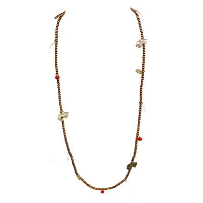 Western Kentucky Wood Bead Stretch Necklace