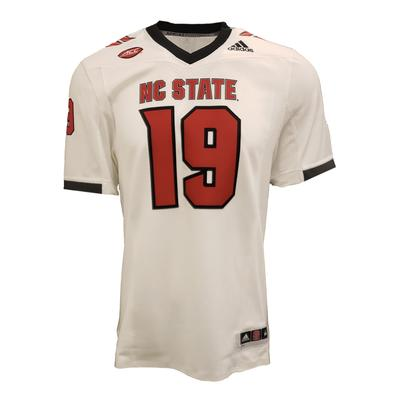 NC State Adidas Premier 19 Football Jersey WHITE