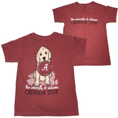Alabama Youth Girls Frisbee Dog Tee