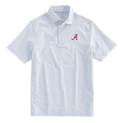 Alabama Vineyard Vines Winstead Stripe Sankaty Performance Polo GRANITE