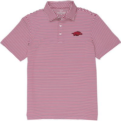 Arkansas Vineyard Vines Winstead Stripe Sankaty Performance Polo