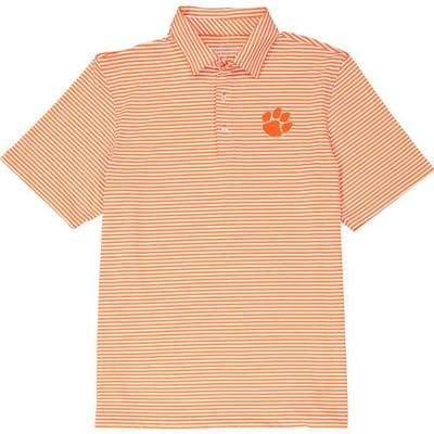 Clemson Vineyard Vines Winstead Stripe Sankaty Performance Polo