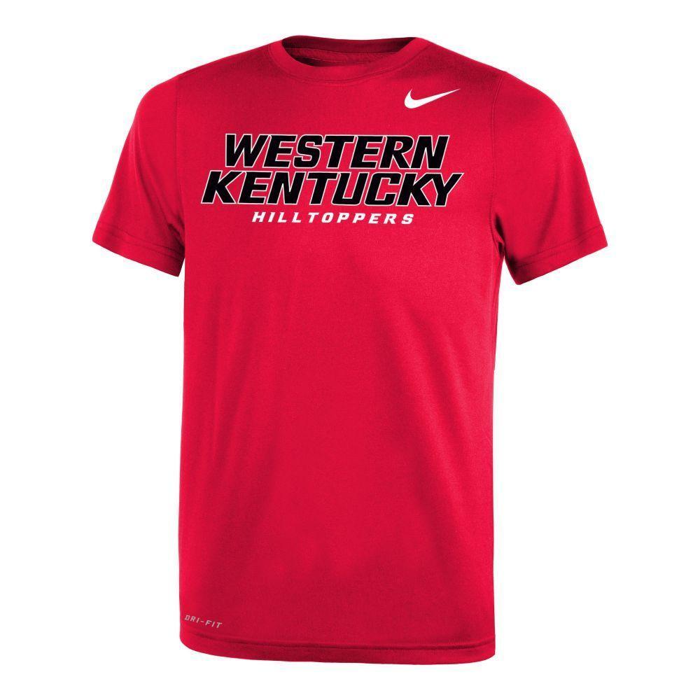 Western Kentucky Nike Youth 2.0 Dri- Fit Tee Shirt