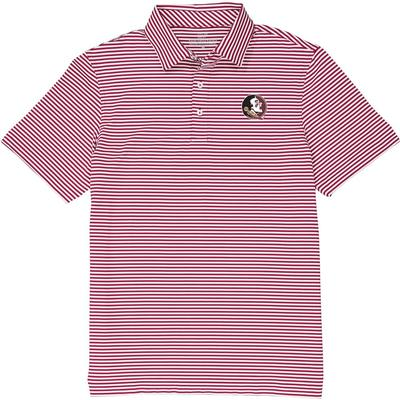 Florida State Vineyard Vines Winstead Stripe Sankaty Performance Polo